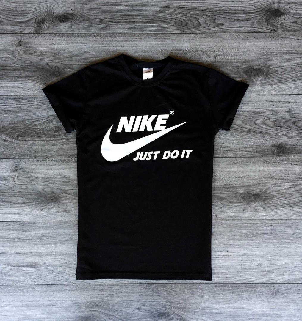 e844bdbf Футболка мужская Nike летняя повседневная найк с принтом (черная),  ТОП-реплика