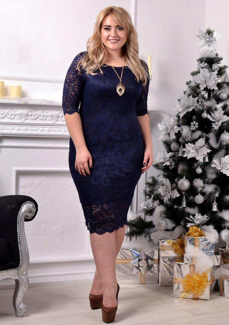 bf37d3a11017b50 Шикарное платье набивной гипюр (4 расцв.) БАТАЛ : продажа, цена в ...