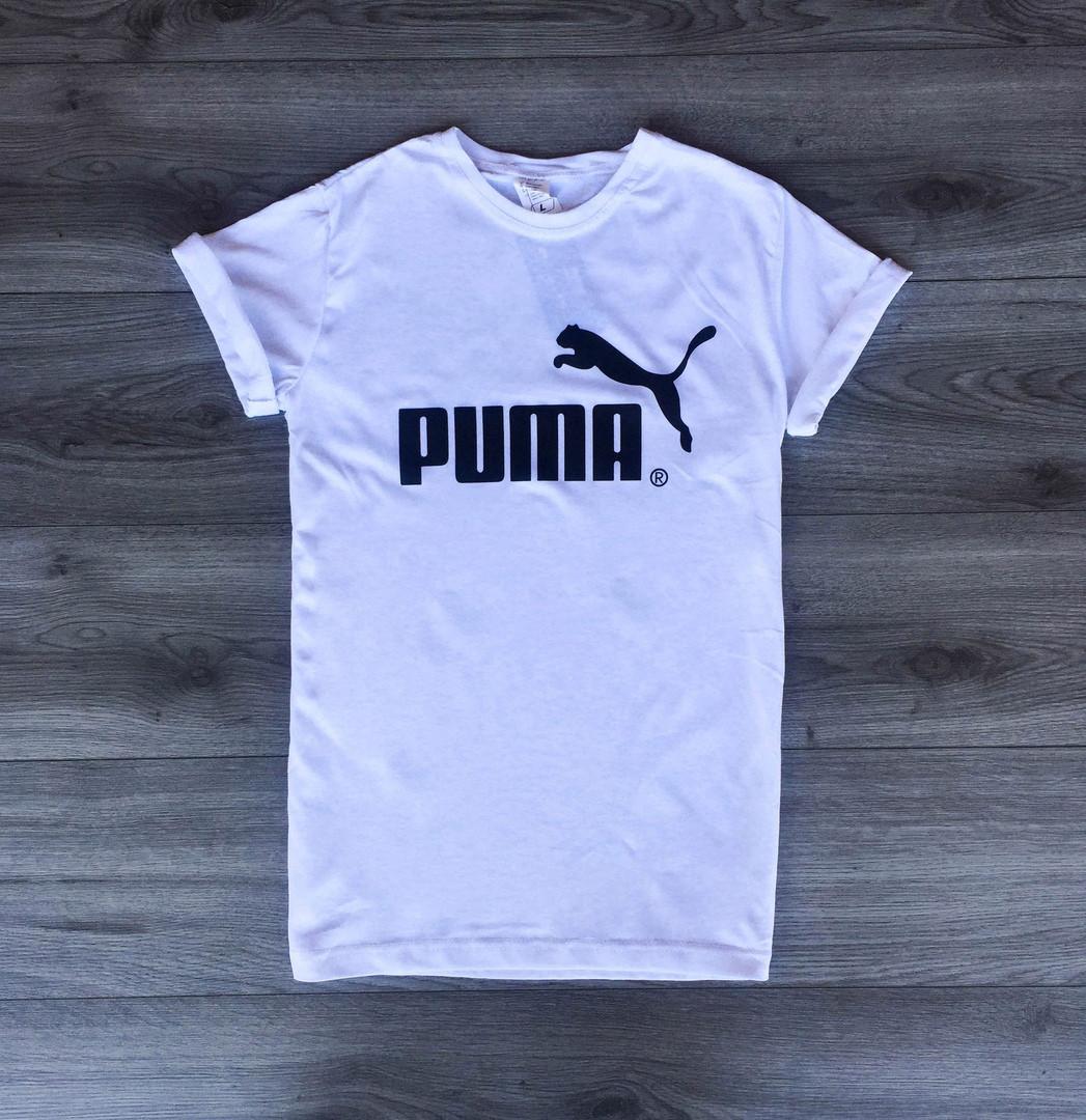 f43a988b5a93 Футболка мужская Puma летняя классика пума в белом цвете, ТОП-реплика