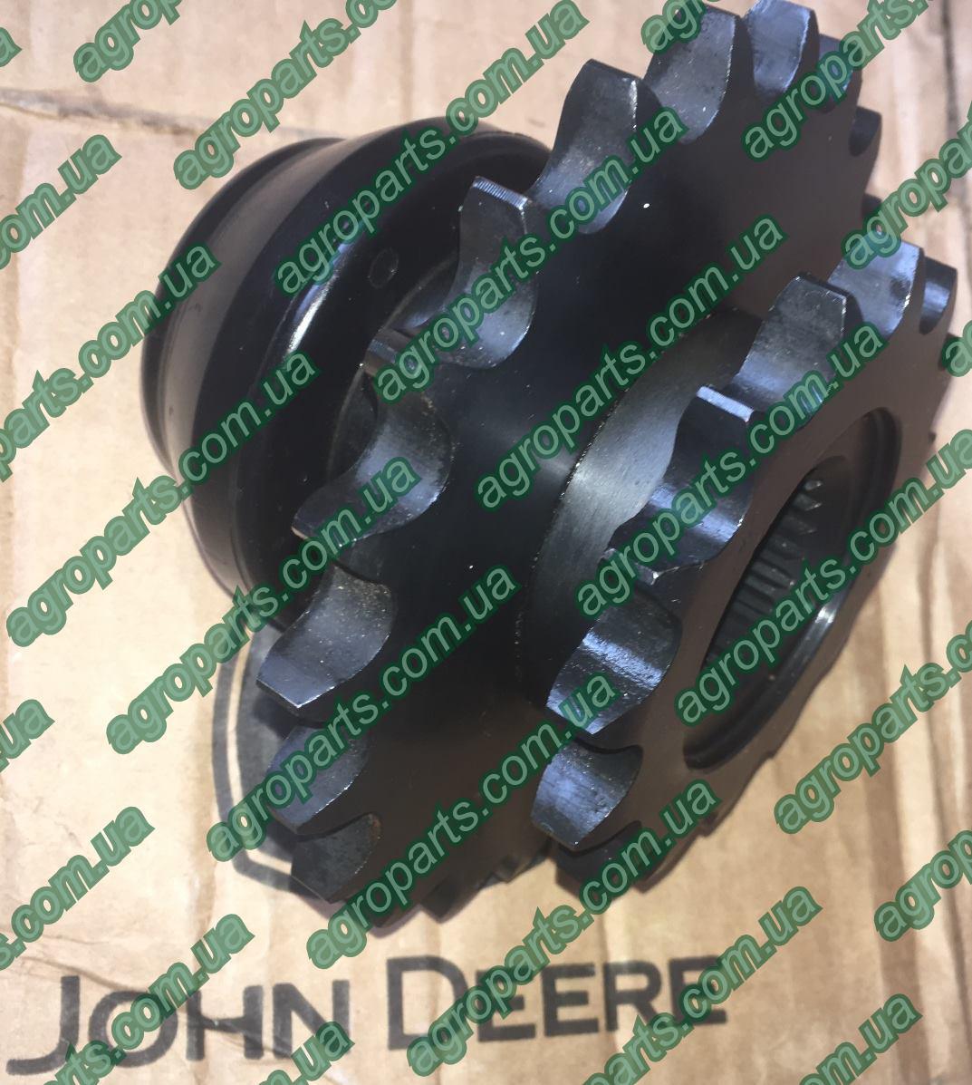 Звездочка AXE10874 z=15/22  John Deere ah149349 Drive Sprocket АН149349 звёздочка