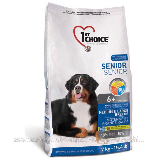 """Cухой корм """"1st Choice Senior Medium & Large"""" 18/10 (для пожилых и малоактивных собак средних и крупных пород), 14 кг"""