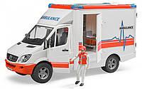 Машина Bruder - скорая помощь Mercedes Benz Sprinter с фигуркой водителя 02536