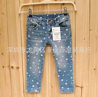 Джинси детские синие со звездочками 122,128см.