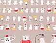 Сатин (хлопковая ткань) мишки в красных штанишках, фото 2