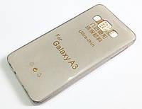 Чохол для Samsung Galaxy A3 A300 (2015) силіконовий ультратонкий прозорий сірий