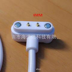 USB  Т-образный магнитный зарядный кабель 2p 4.0 шаг 2-контактный   универсальный белый  для смарт часов