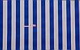 Сатин (бавовняна тканина) синя смужка, фото 2