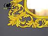Зеркало настенное Grodno в золотой раме, фото 6