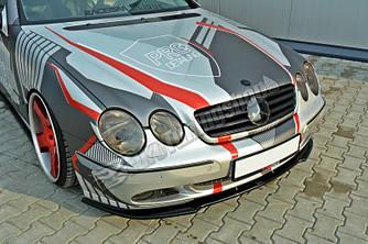 Диффузор накладка переднего бампера тюнинг Mercedes CL W215