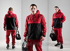 Мужской Анорак (ветровка) красный Nike реплика