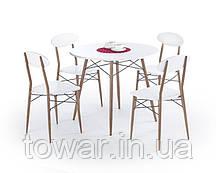 Комплект стол и кресла RECORD okrągły Halmar