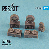 IAI Kfir wheels set 1/72  RES/KIT 72-0051
