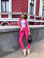 Костюм женский двойка жакет и брюки норма  дав122, фото 1