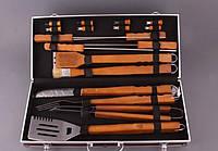 Объемный набор для барбекю на 18 предметов Металлический кейс для удобного транспортирования Код: КГ5445
