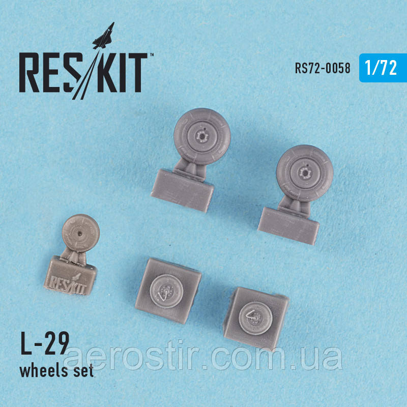 L-29 wheels set 1/72 RES/KIT 72-0058