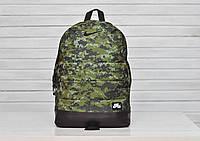 Рюкзак Nike стильний з шкіряним дном (камуфляж), ТОП-репліка
