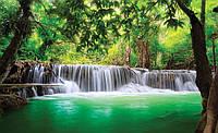 Фотообои 3D природа (флизелин 254х184, бумага 368х254) Зеленый волшебный водопад (1966.20007)