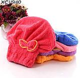 Тюрбан для сушки волос розовый, фото 3
