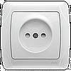 Розетка VIKO Carmen (без заземления), с защитными шторками Белая (90561043)