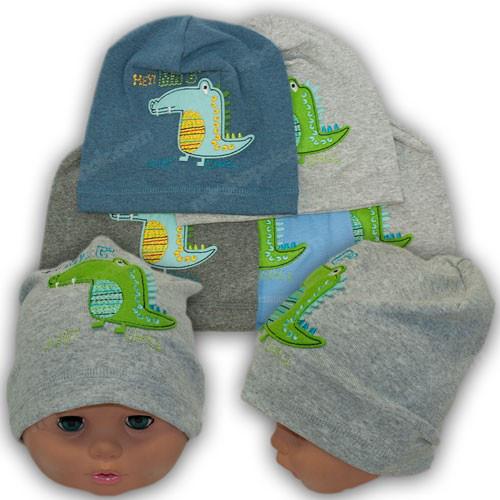 Трикотажная шапка для мальчика, р. 44-46