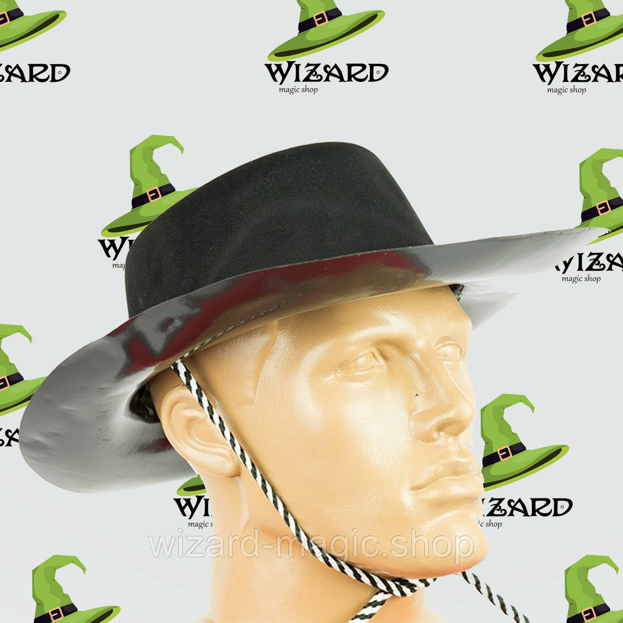 Шляпа Ковбоя Флок (черная) - Wizard Magic Shop в Харькове