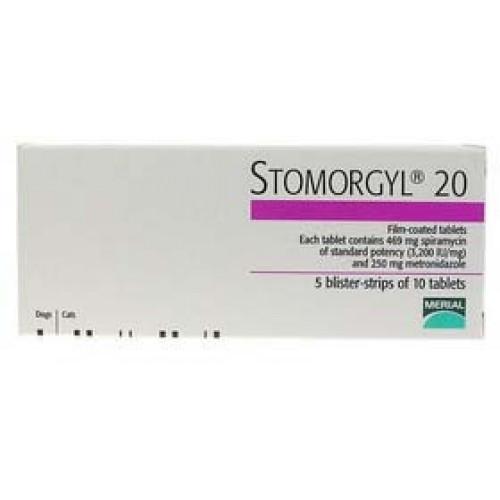 Стоморджил 20 (Stomorgyl 20) (10 таблеток)