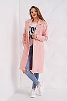 Замечательное розовое женское пальто под классический стиль