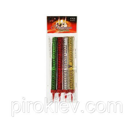Разноцветные уличные свечи в торт MF-002 (12 см. 60 сек.)