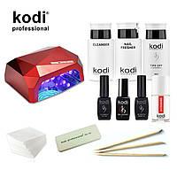 Стартовый набор для маникюра гель лаком Kodi SMART с гибридной лампой