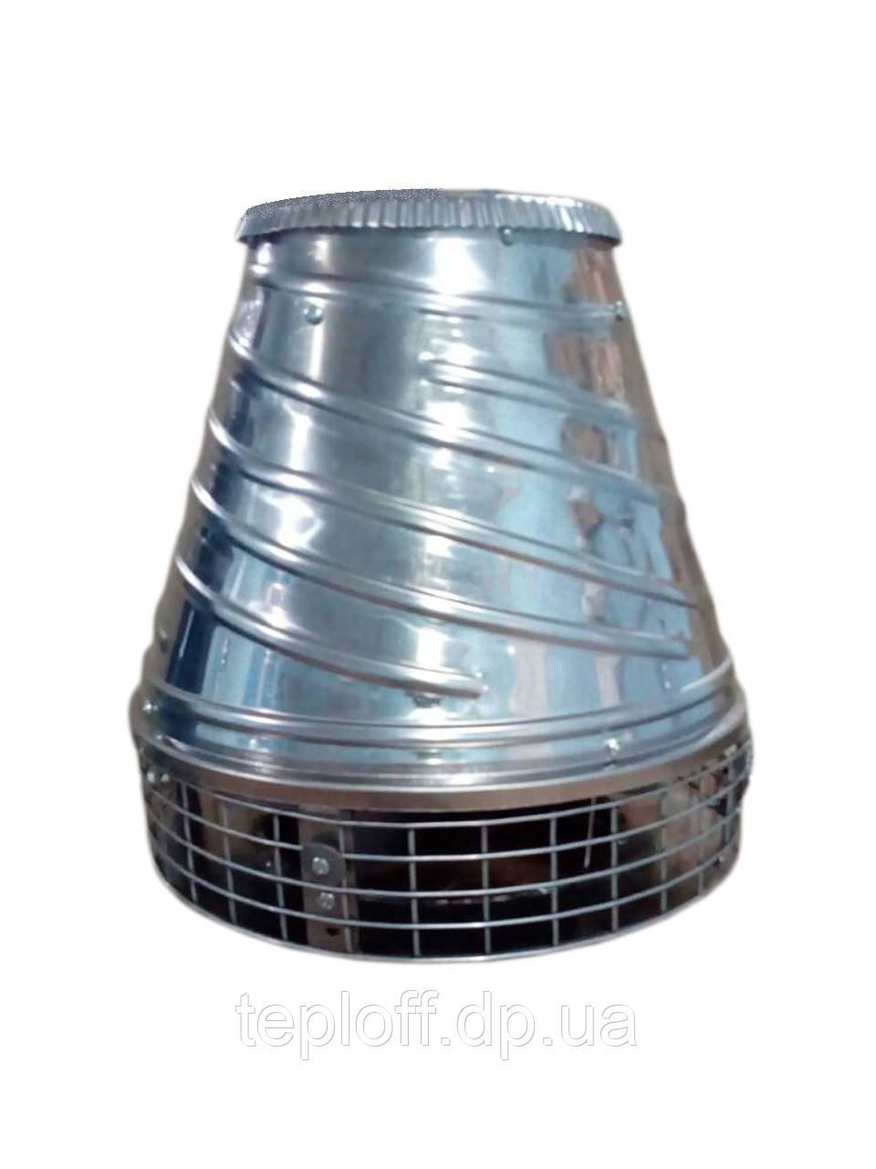 Дымосос крышный для камина 750м3/ч, нержавейка
