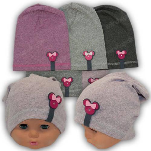 Трикотажная шапка для девочек, р. 44-46