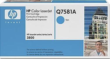 Картриджи HP Q7581A  503A для HP CP3505, 3800 cyan синий оригинал