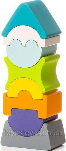 Деревянная игрушка Cubika Пирамидка 8 деталей LD-7, балансир