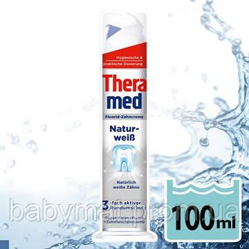 Профессиональная зубная паста отбеливающая Тheramed Natur weiss с дозатором Германия