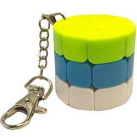 Кубик Рубика цилиндр брелок