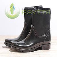 Резиновые женские ботинки Mida 22079 нуб 38,39размер