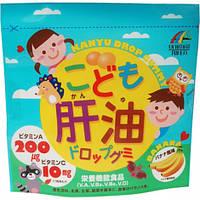 Комплекс вітамінів +Омега3 для дітей з банановим смаком 100 шт. Японія, фото 1