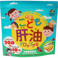 Комплекс витаминов +Омега3  для детей с банановым вкусом 100 шт. Япония, фото 1