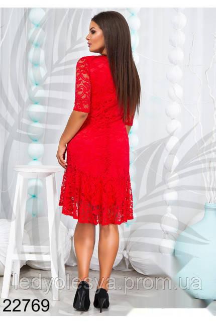 7c983e2554c Платье гипюровое до колен в расцветках