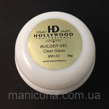 UV/LED гель Hollywood Builder Gel Clear Glass строительный, 50 мл