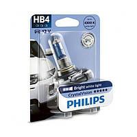 Галогенная лампа Philips CrystalVision HB4 12V 9006CVB1 (1шт.)
