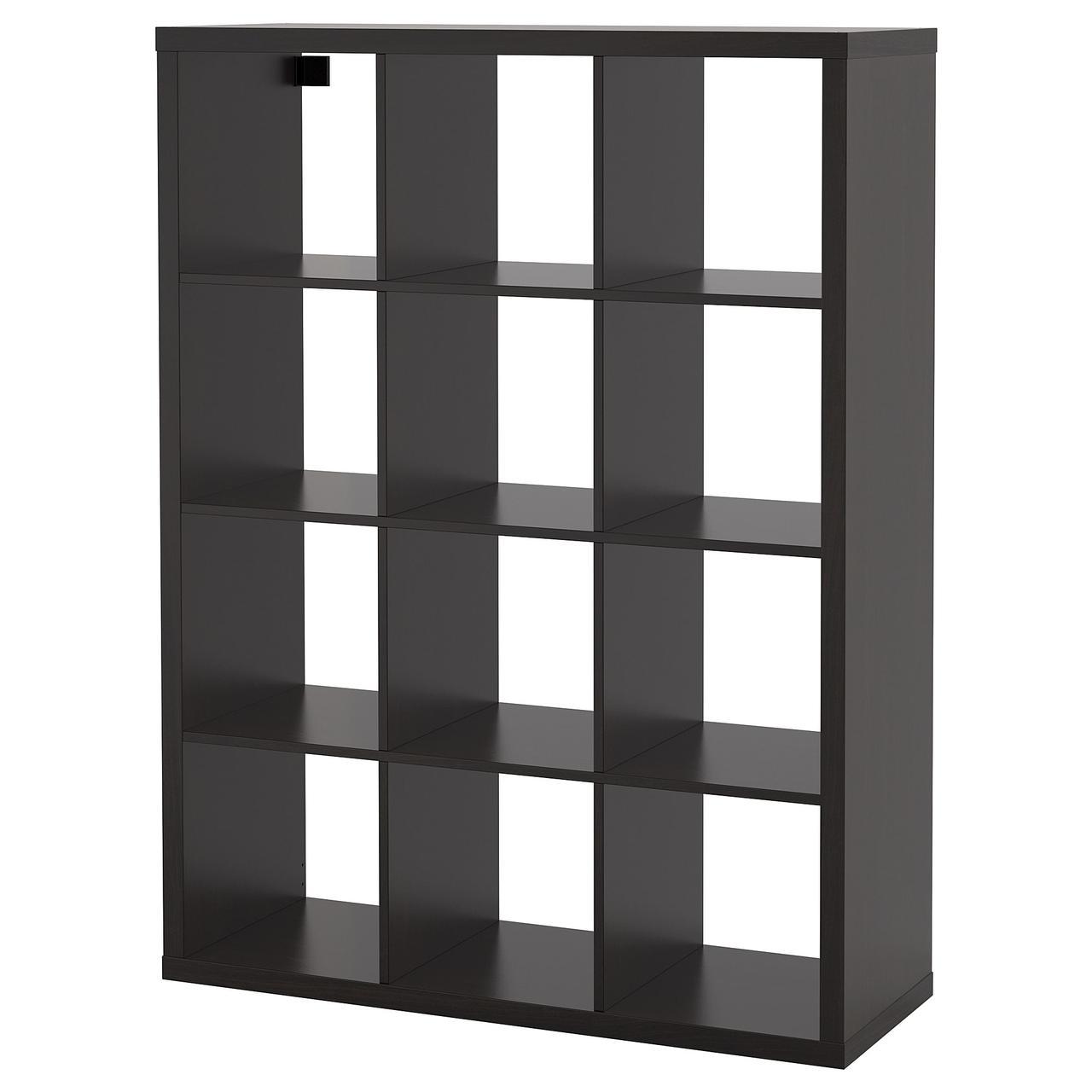 Стеллаж IKEA KALLAX 112x147 см черно-коричневый 204.099.36