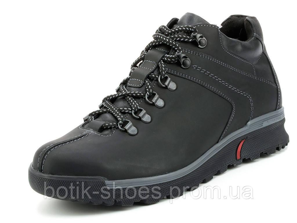 7ea3558284ab Зимние мужские кожаные черные спортивные ботинки, зимние кроссовки Mida  14958 - интернет-магазин обуви