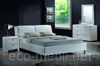 Півтораспальне ліжко з мякою оббивкою Mito 140 Signal