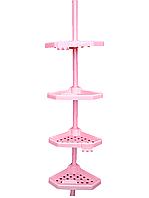 Полка для ванной пластик розовый