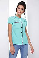 Универсальная женская блузка с коротким рукавом 7064/2, фото 1