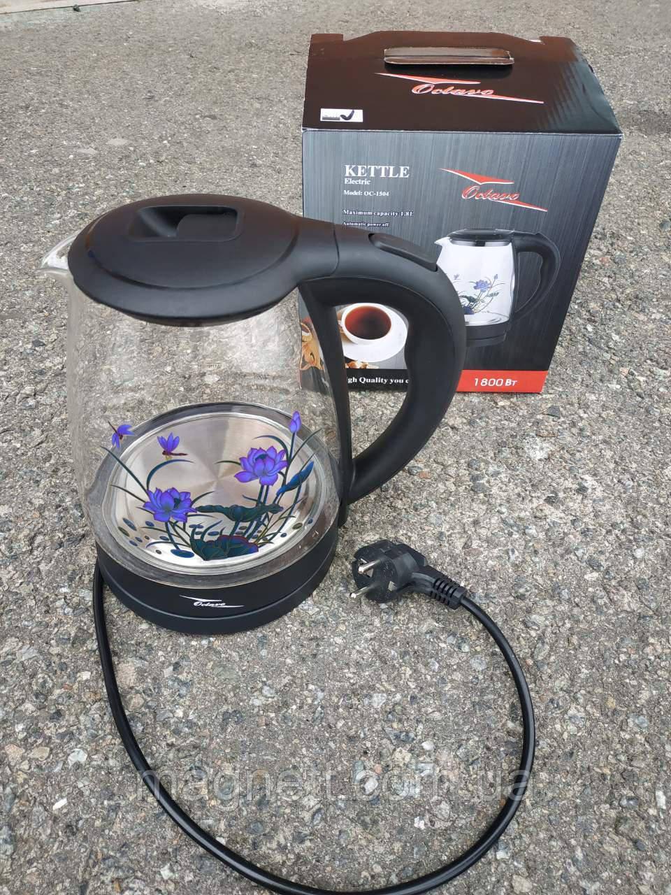 Чайник электрический Octavo 1504-OC 1.8 л. стеклянный