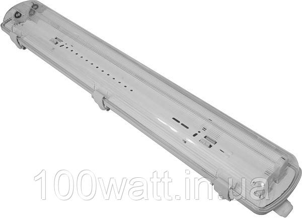 Корпус светильника светодиодного LED 2x1200mm с пластиной (ЛПП 2х36 IP65) без ламп ST 800