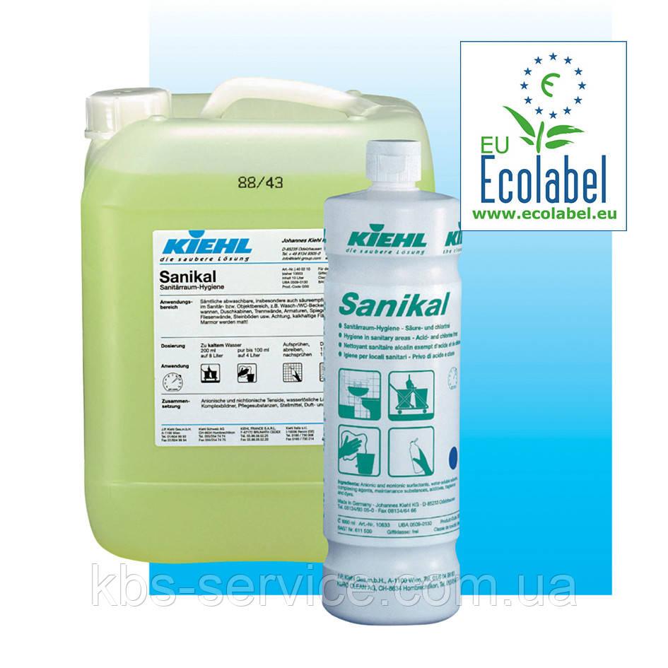 Щелочное средство для уборки санитарных помещений Sanikal-eco, 1 л,  Kiehl