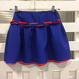 Синий  костюм с  вышивкой гладью  от 1  до  10  лет (1-2 года), фото 8